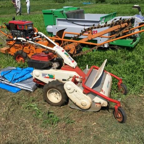 炭素循環農法の大規模化に向けての機械化の取り組み
